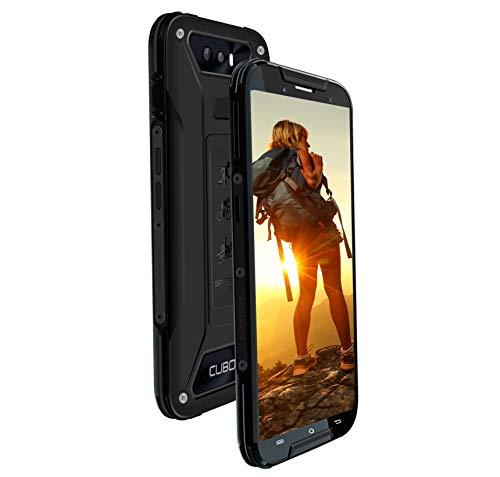 CUBOT Quest Lite 4G Sport Phablet Robustes Smartphone 5,0 Zoll Dual SIM IP68 Wasserdicht Sport Outdoor Smartphone ohne Vertrag 3GB + 32GB 8,0MP Frontkamera Fingerprint Sensor(Schwarz)
