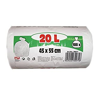 JUFOL Müllbeutel - 20L - 100 Beutel auf der Rolle - 450 x 550 mm, 1 Stück, 30071