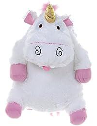 Despicable Me Fluffy Unicorn Plush Backpack Sac à dos enfants, 42 cm, Blanc (White)