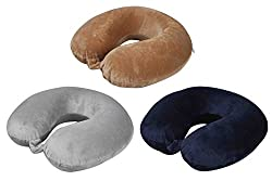 Travel Pillow Memory Foam - Navy Blue