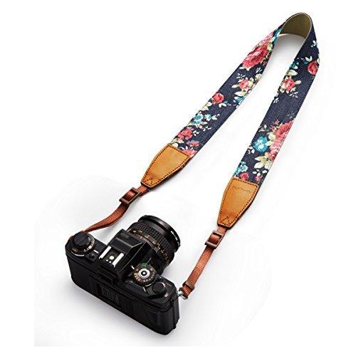 BESTTRENDY Kameragurt Kamerariemen Schultergurt Trageriemen Kamera Gurt für Canon Nikon DSLR Farbe Blau - 3