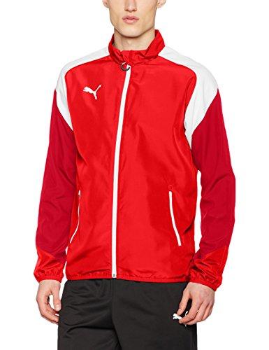 PUMA Herren Esito 4 Woven Jacket Jacke, red White-Chili Pepper, L Puma Cat Woven Jacket