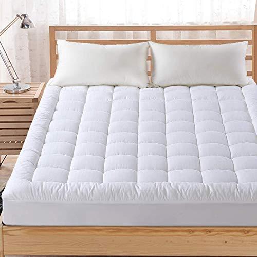 FAIRYLAND matratzenauflage kissen top kühl gesteppte matratze auflage abdeckung baumwolle mit schnee down alternativ geben sie bitte könig weiß-1 - Kissen-abdeckungen Baumwolle Gesteppte