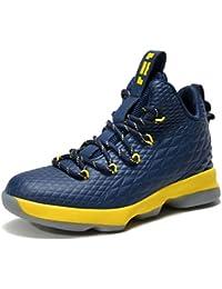 SINOES Hombre Mujer Zapatillas de Baloncesto Calzado Deportivo Al Aire Libre High-Top Sneaker Antideslizante Zapatillas de Deporte Ligeros Zapatos para Correr Transpirable Lace Up Niños Zapatos