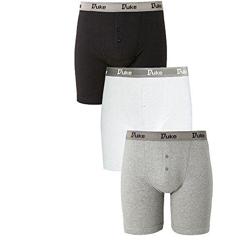 Duke London Herren Boxershort schwarz Black-White-Navy Large Gr. Large, Black-White-Navy