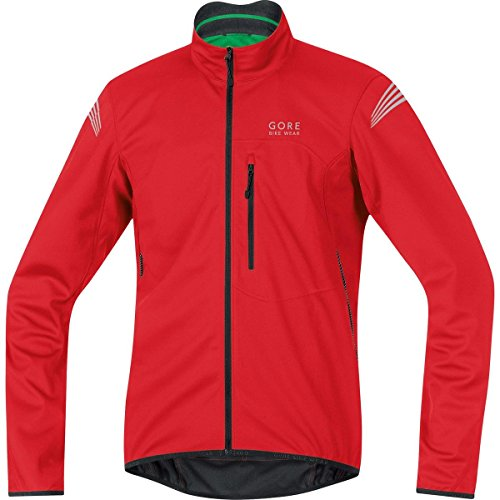 GORE BIKE WEAR Herren Warme Soft Shell Fahrrad-Jacke, GORE WINDSTOPPER, ELEMENT WS SO Jacket, Größe: L, Rot, JWSMEL