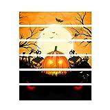 Selou Selou Halloween 3D Aufkleber Crow Tombstone Pumpkin Staircase Aufkleber Wasserdichter DIY Wandaufkleber