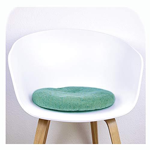 8-Natur Stuhlkissen aus 100% reinem Merinofilz für Designerstühle, Bänke und als Yogakissen (türkis)