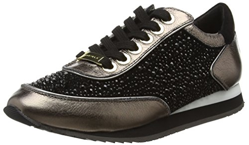Carvela Lemmy, Baskets Basses Femme Noir - Black (Black/Comb)