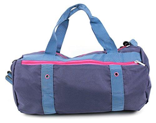 Babytasche / Wickel- & Windel-Bag in Rosa-Violet. Mit zusätzlichem Innenfach für Baby-Schuhe & Handtücher. Mit dabei: schulterfreundlicher Tragegurt