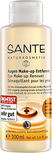 SANTE Naturkosmetik Augen Make-up Entferner, Mit milden Tensiden & Bio-Ölen, Vegan, reinigt sanft & schonend, 100ml