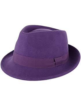 Cappello Trilby 100% Lana con Ba
