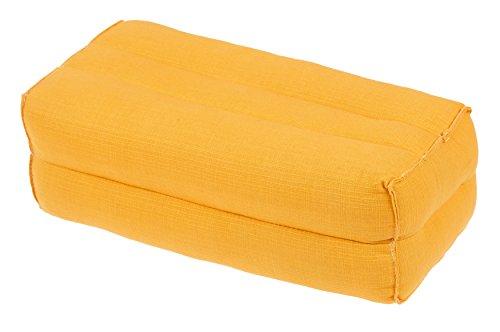 Kissen Block 35x15x10 Naturbaumwolle (sonnengelb). Perfekt für Meditation & Yoga ? preisvergleich