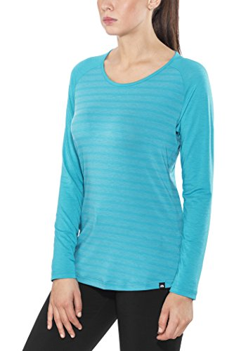 Mountain Equipment Redline LS Tee Women Digital Blue Stripe/Digital Blue Größe 14 | L 2018 Langarmshirt (Redline Bekleidung)
