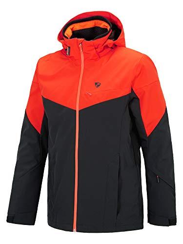 Ziener Herren Toccoa Man (Jacket Ski Snowboard-Jacke/Atmungsaktiv, Wasserdicht, Black.New red, 50