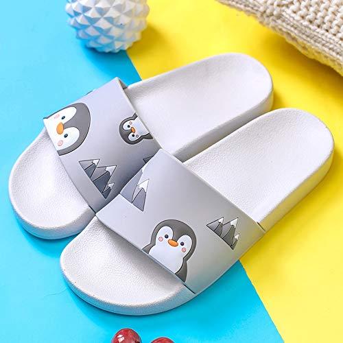 WDDNTX Hausschuhe, Sommer Hausschuhe Cartoon Pinguin Muster Damen Hausschuhe Damenschuhe Hausschuhe Sandalen Strandrutschen, 40-41
