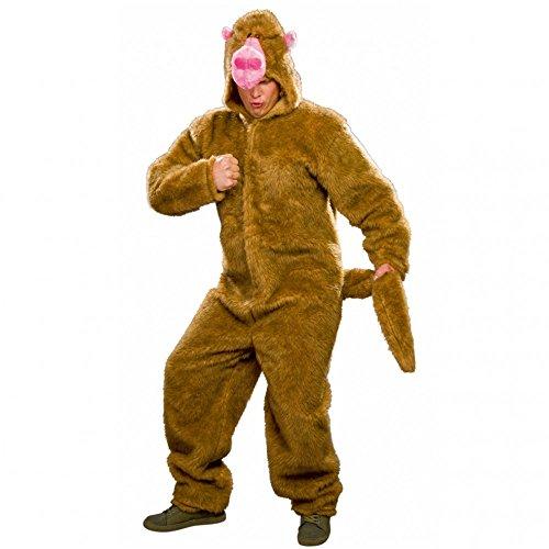 Kostüm Pavian Einhgr. Plüsch Overall Affenkostüm Tierkostüm Affe - Pavian Kostüm