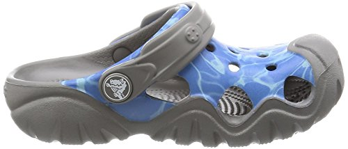 Crocs Swftwtrgrphclgk, Sabot Unisex – Bambini Multicolore (Multi-Color Blue)