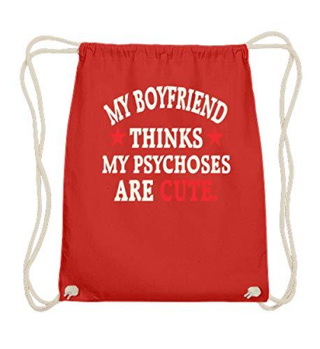 Shirtee Boyfriend Girlfriend - Psychoses are cute - Baumwoll Gymsac