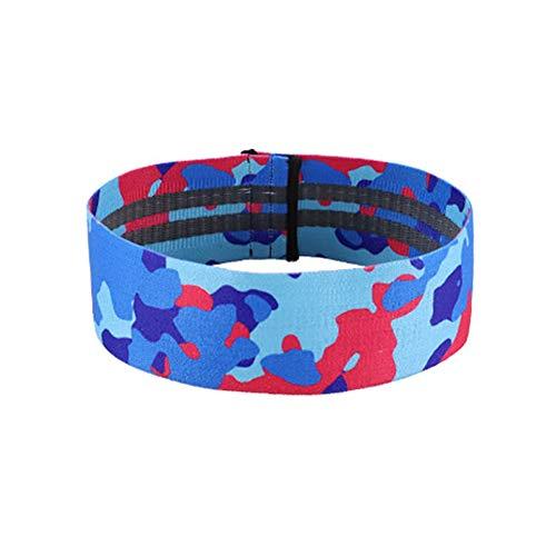 Crewell Yoga-Widerstandsband Anti-Rutsch-Übungsband für Beine, Hüfttraining, blau, Large