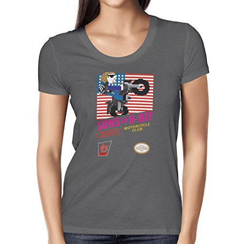 TEXLAB - Sons of 8-Bit - Damen T-Shirt Grau
