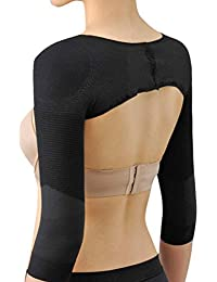 Zhhlinyuan Women's respirabilité Body Shaping Colthes Posture Correction Control Body Long Sleeve Butterfly Shoulder Pads