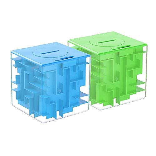 SEALEN Money Maze Puzzle Box, Money Holder Puzzle, Denksportaufgaben Spaß Herausforderung Spiel Great Gag Geschenk Stocking Stuffer für Kinder Erwachsene Jungen Mädchen 2 Pack