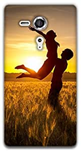 The Racoon Lean Couple hard plastic printed back case / cover for Sony Xperia SP
