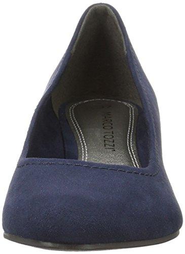 Marco Tozzi 22302, Chaussures à talons - Avant du pieds couvert femme Bleu (Navy 805)