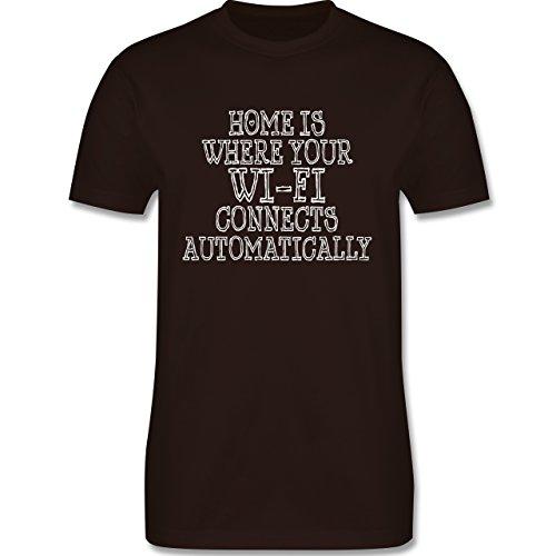 Nerds & Geeks - Wi-Fi Home - Herren Premium T-Shirt Braun