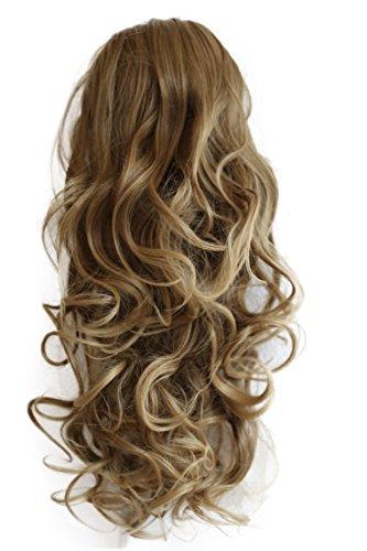 PRETTYSHOP 55cm Haarteil Zopf Pferdeschwanz Haarverdichtung Haarverlängerung VOLUMINÖS 55cm hellbraun mix #6T27 PH27
