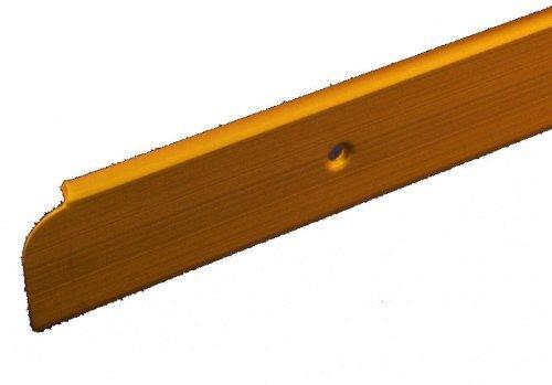 Gold Trim Matt (Kitchen Worktop Trim End Cap Matt Gold 30mm x 630mm by Rolabond)