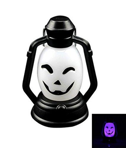 amp Kürbis New Halloween Lampe Portable Hängeleuchte Scary Horror Bunte Flash LED (1PCS) Laterne Feuerzeug Halloween Dekorationen ()