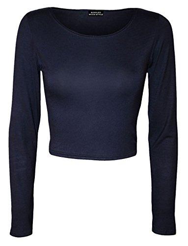 Generic -  Maglia a manica lunga  - Maniche lunghe  - Donna blu navy