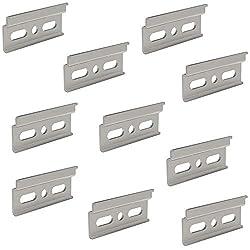 Trägerplatte Schrankaufhänger Küchen-Schrank Aufhängeschiene - Oberschrank | Länge 60 mm | Stahl verzinkt | Schrank-Schiene mit Aushänge-Sicherung für Hängeschrank | 20 Stück - Wand-Halterungen Metall