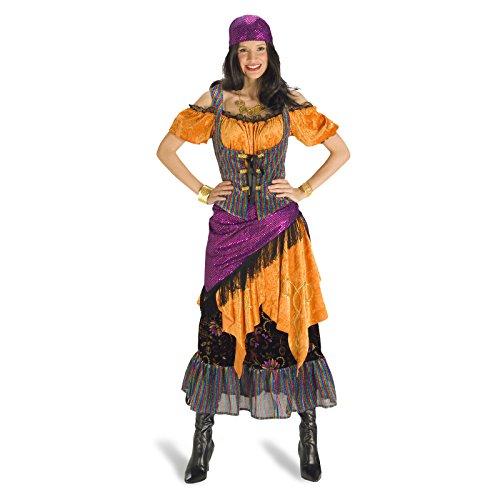 Disfraz de gitana - traje de mujer en tres piezas, vestido con corsé - 44/46