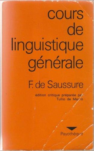 Cours de linguistique gnrale
