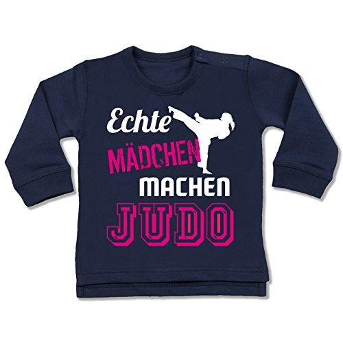 Sport Baby - Echte Mädchen machen Judo - 12-18 Monate - Navy Blau - BZ31 - Baby Pullover