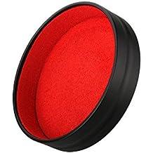 Ewoop copriobiettivo progettato per obiettivi Leica Q (Typ 116)/piazza Hood, obiettivo della fotocamera anteriore nera migliore protezione lente Insider rosso flanella