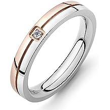 bigsoho Mode joyas – anillo Hombre Mujer Con Circón Acero Inoxidable alianzas de plata alianzas de