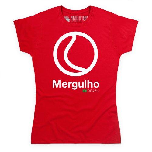 General Tee Classic Curves - Mergulhd T-Shirt, Damen Rot