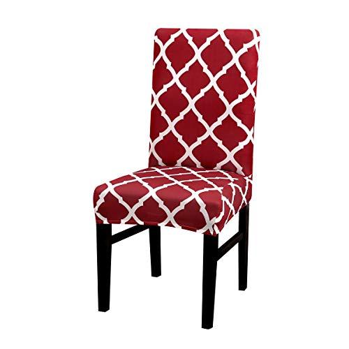 en Universal abnehmbare Stretch Stühle Schonbezüge waschbar Stuhlschutz für Esszimmer, Hotel, Bankett, Zeremonie Wein ()