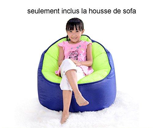 QuWei Designer Chaise de gaming Pouf Poire Zip d'intérieur/extérieur Pouf Bean Bag Sofa DIY Canapé Pour Enfants (La housse, Bleu foncé)