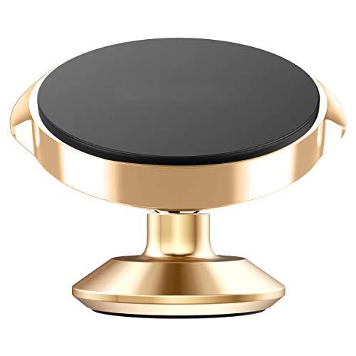 LONG Autotelefonhalter, kleine Ohrläppchen vertikale Serie Halterung magnetische 360-Grad-Autotelefon Sitz Aufkleber Auto liefert,Gold