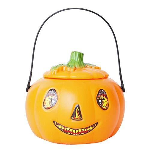 (MAOYYM2 Halloween Kürbis Licht Requisiten Candy Dosen Glühende Abdeckung Kinder Tragbare Kürbis Eimer Bar Urlaub Dekorationen)
