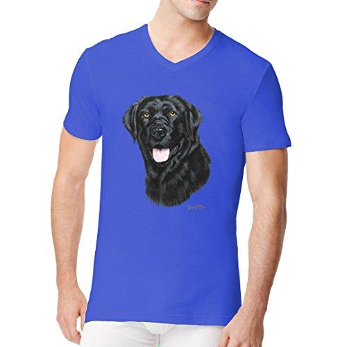 Im-Shirt - Hunde T-Shirt: Labrador Retriever cooles Fun Men V-Neck - verschiedene Farben Royal