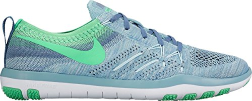 Nike W Free Tr Focus Flyknit, Scarpe da Escursionismo Unisex – Adulto Mica Blue/Electro Green-Ocean Fog-White