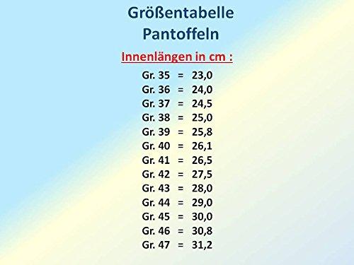 GIBRA® Herren Pantoffeln mit fester Sohle, braun-kariert, Gr. 39-47 Braun-Kariert
