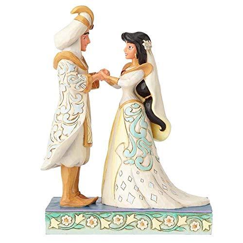 Disney Traditions de Jim Shore por Enesco jazmín y Aladdin–Figura de novios (porcelana)