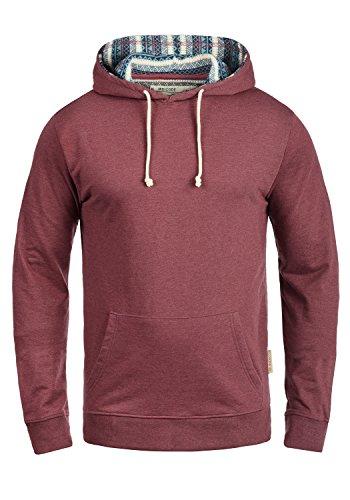 Indicode Angus Herren Kapuzenpullover Hoodie Pullover Mit Kapuze, Größe:XXL, Farbe:Wine (227)